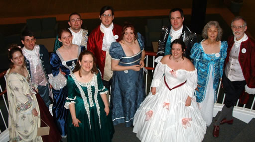 Group of BHDS dancers at the Williamsburg Ball.